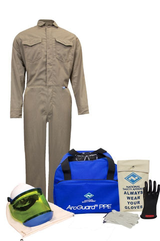 NSA ArcGuard® Arc Flash Kit with FR Coveralls (KIT2CVPR08)
