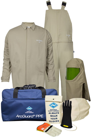 NSA ArcGuard® Economy™ Arc Flash Kit with Short Coat & Bib Overall (KIT4SC40EC)