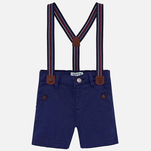 Boys Chino Shorts with Suspenders