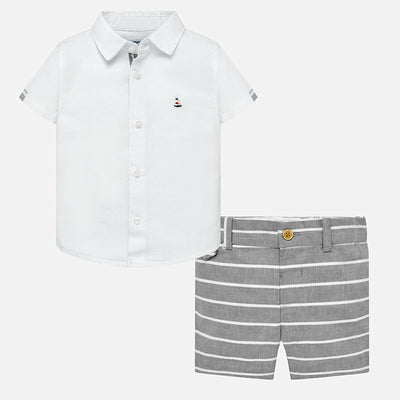 Boys Linen Short Set