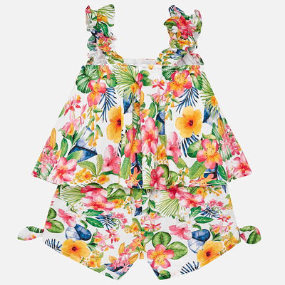 Tropical Play Suit For Baby Girl