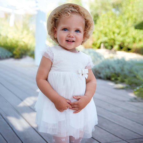 Flared Tulle Dress For Baby Girl