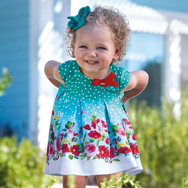 Sleeveless Polka Dot Dress For Baby Girl