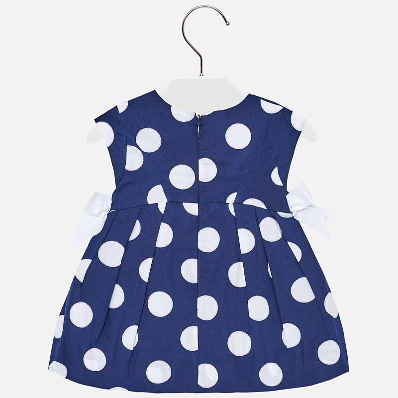 Polka Dot Dress With Bows For Baby Girl