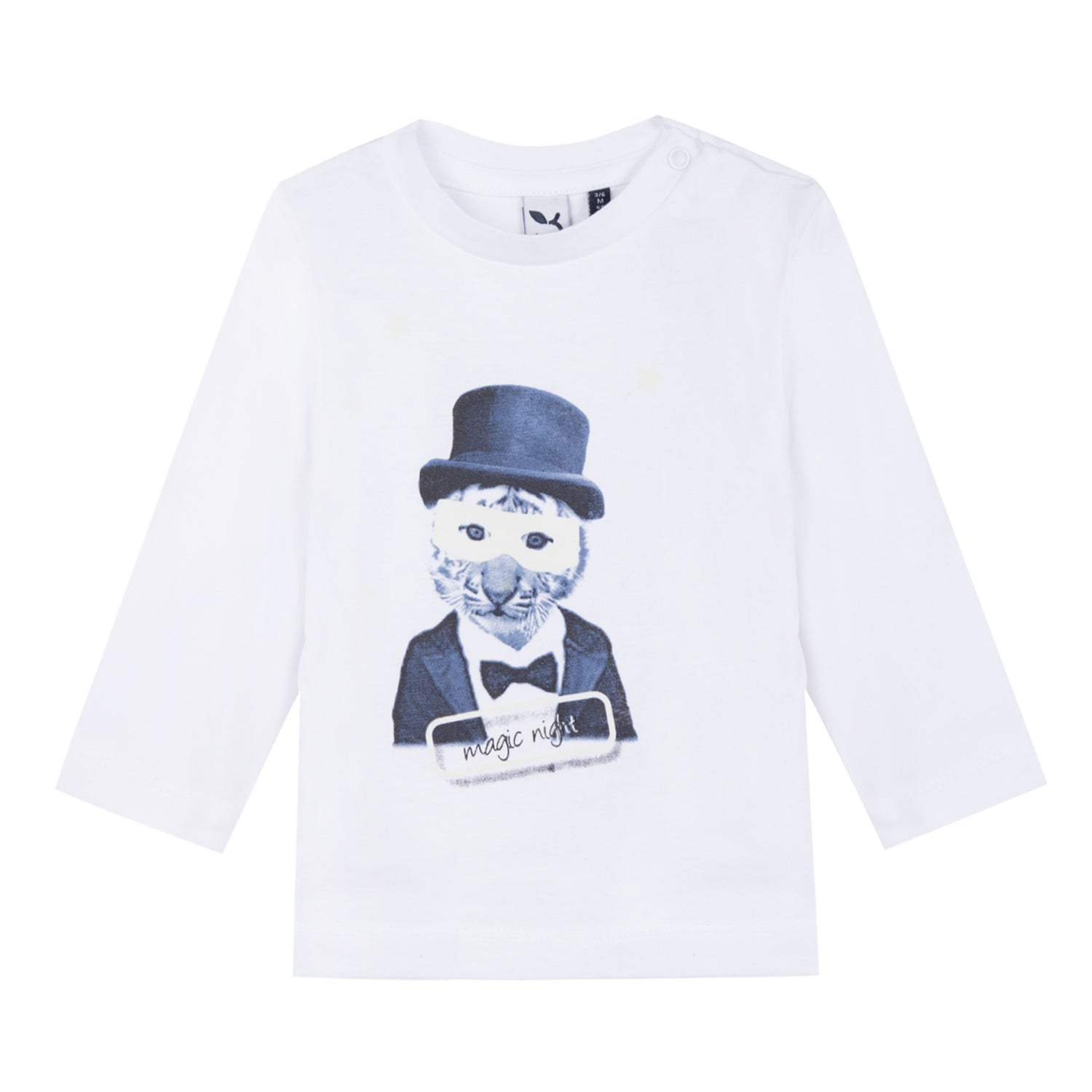 Baby & Toddler Boys Magic Lion Printed White Top