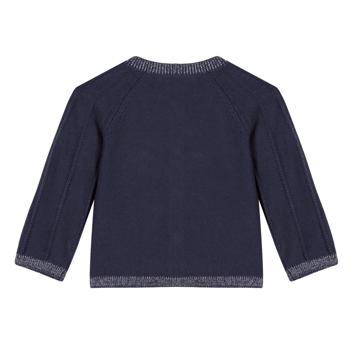 Baby & Toddler Girls Navy Cardigan With Silver Heart