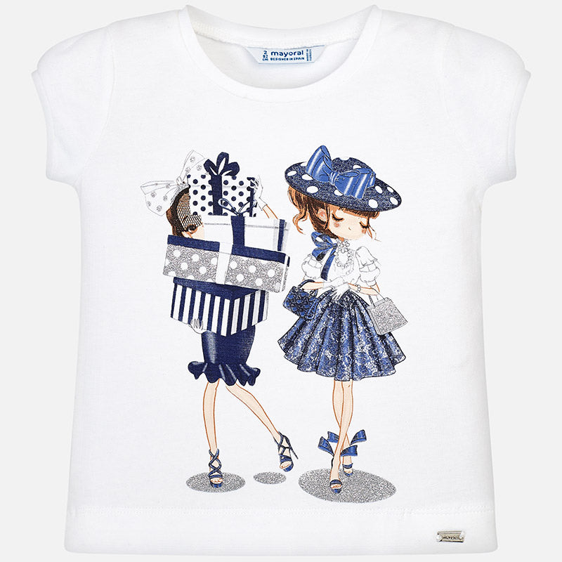 Short Sleeved Dolls T-Shirt For Girl