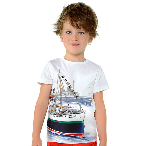 Boys Short Sleeved Boats T-Shirt