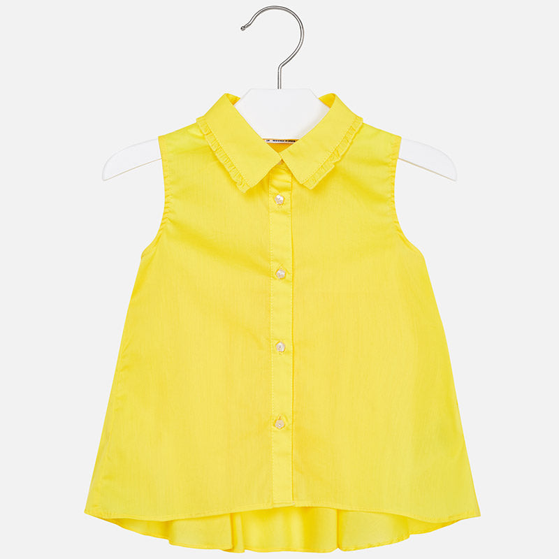 Sleeveless Flared Blouse For Girl