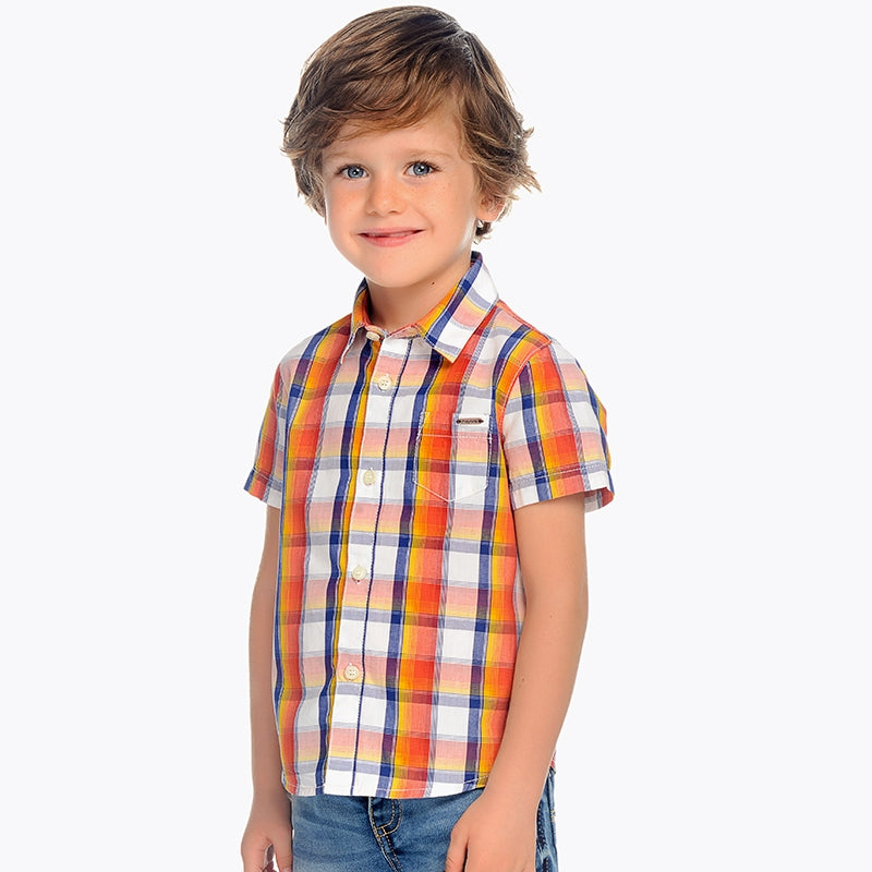 Boys Checkered Pattern T-Shirt