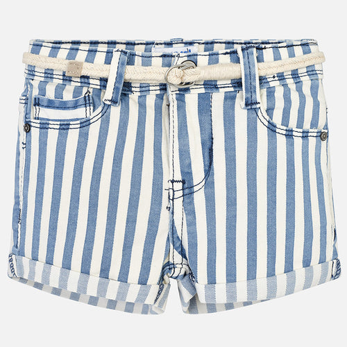 Girls Striped Shorts with Belt
