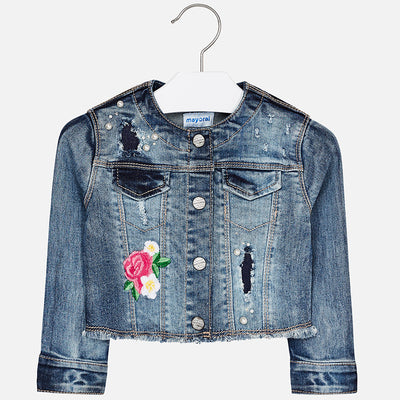Girls Decorated Denim Jacket