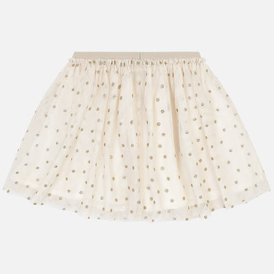 Tulle Glitter Polka Dot Skirt For Girl