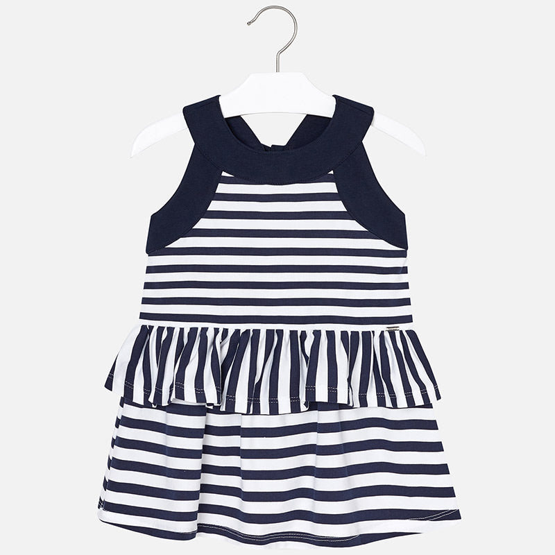 Striped Ruffle Dress For Girl