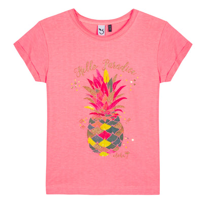 Girls Tropical Pineapple Print T-Shirt
