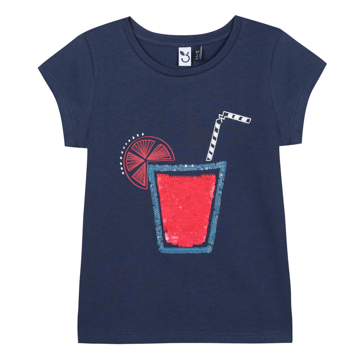Girls Tropical Sequins T-Shirt