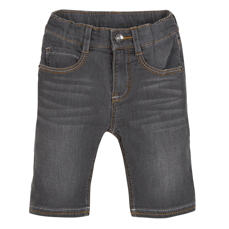 Boys Grey Denim Bermuda Shorts