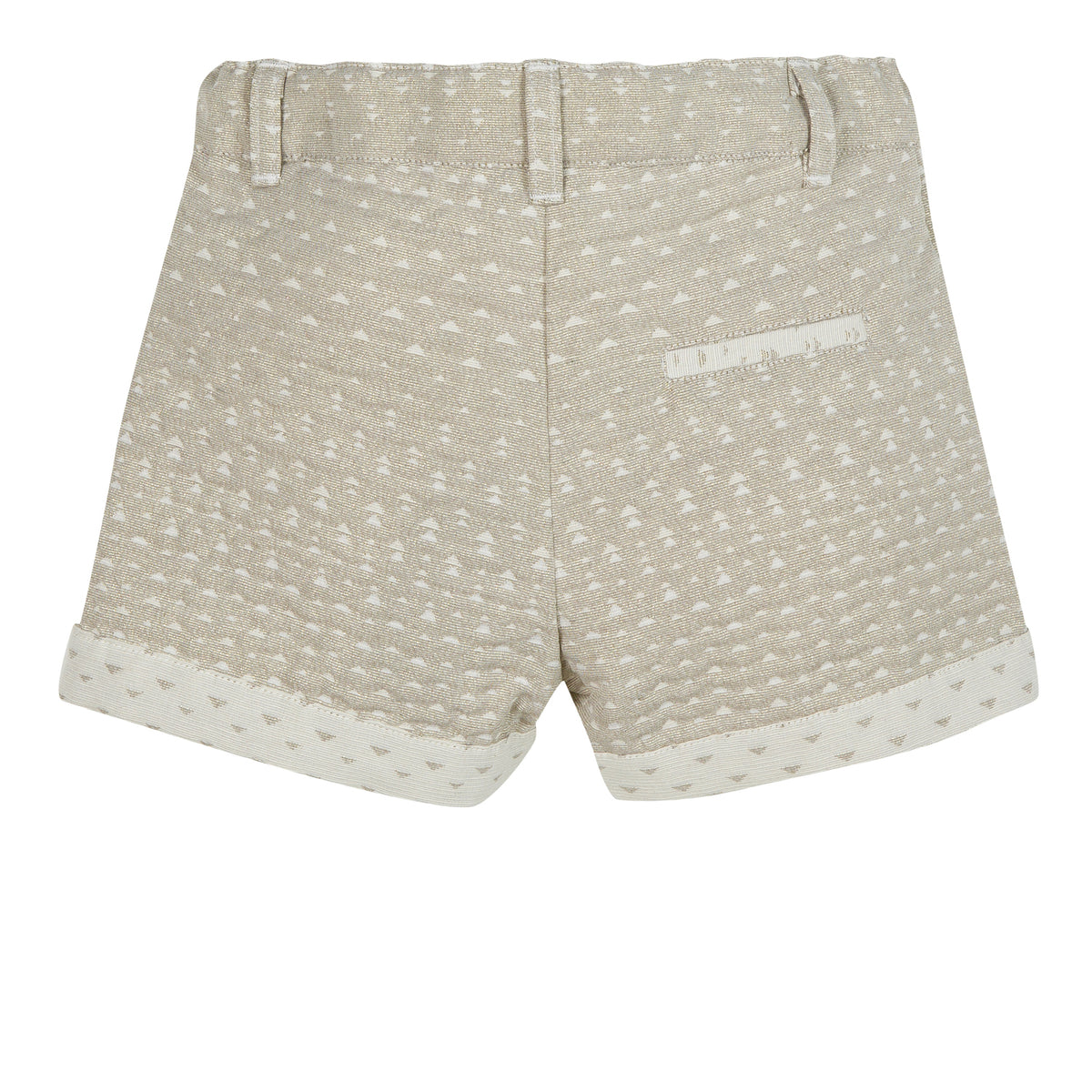 Girls Pale Gold Shorts