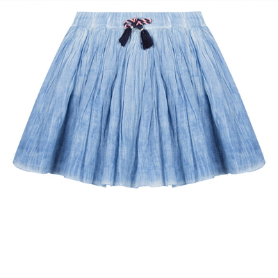 Girls Ocean Blue Skirt With Tassels