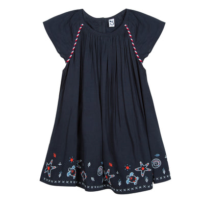 Baby & Toddler Girls Marine Dress With Seashell Lining