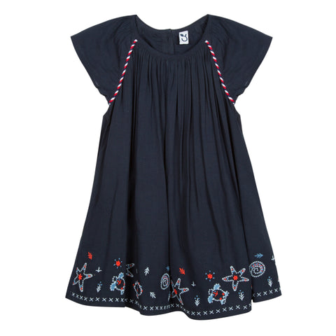 Girls Unicorn Collar Dress