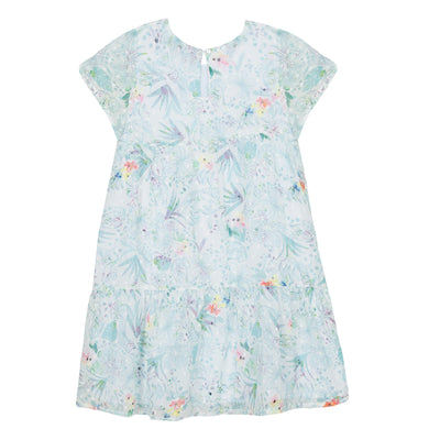 Girls White Plumetis Voile Dress