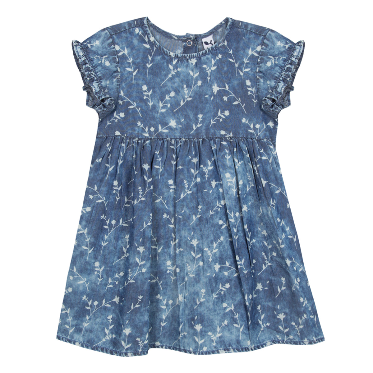 Baby & Toddler Girls Denim Print Dress