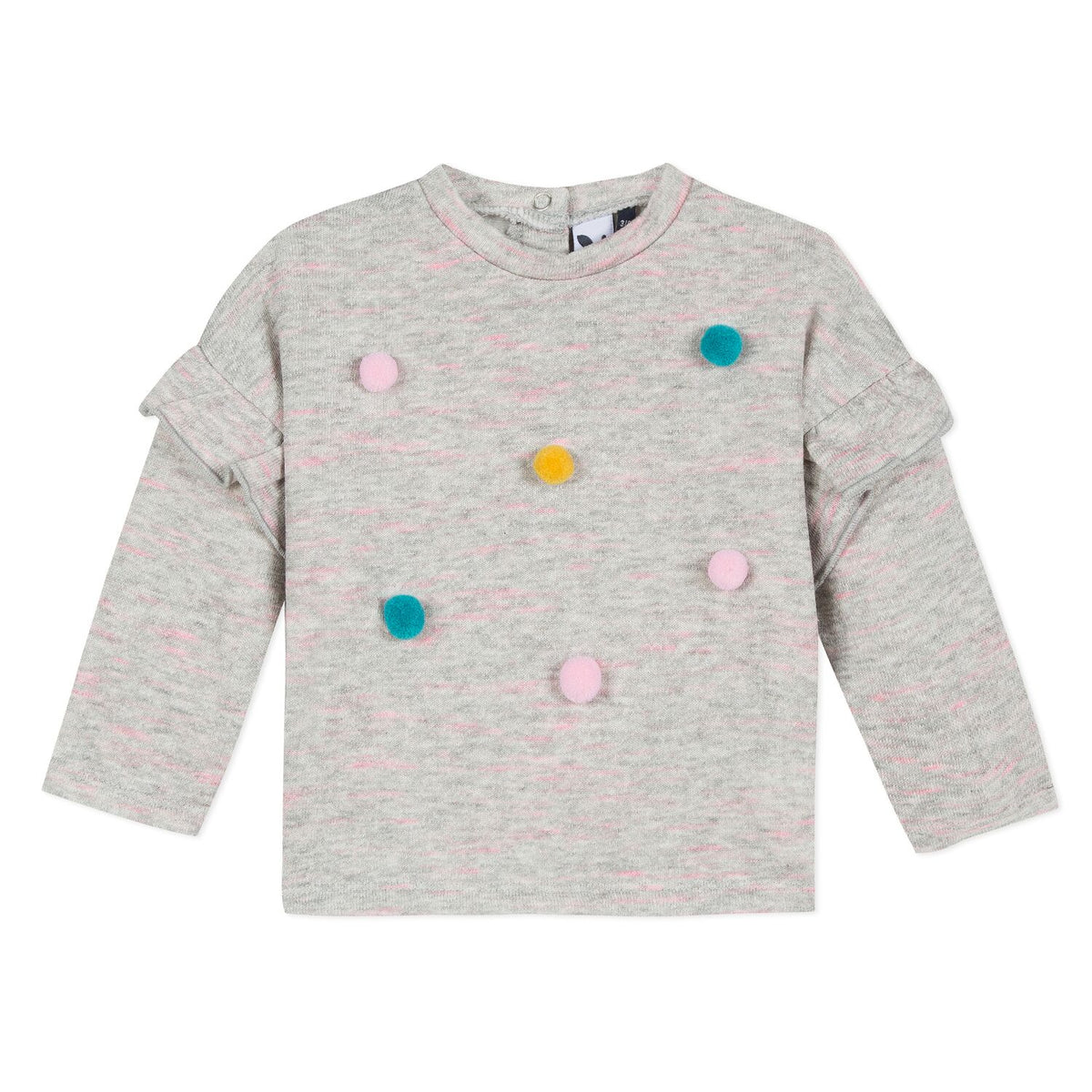 Girls Pom Pom Sweatshirt