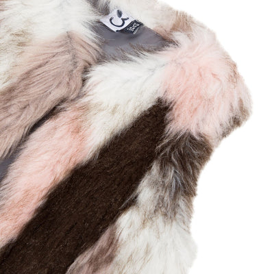 Girls Pink Faux Fur Vest