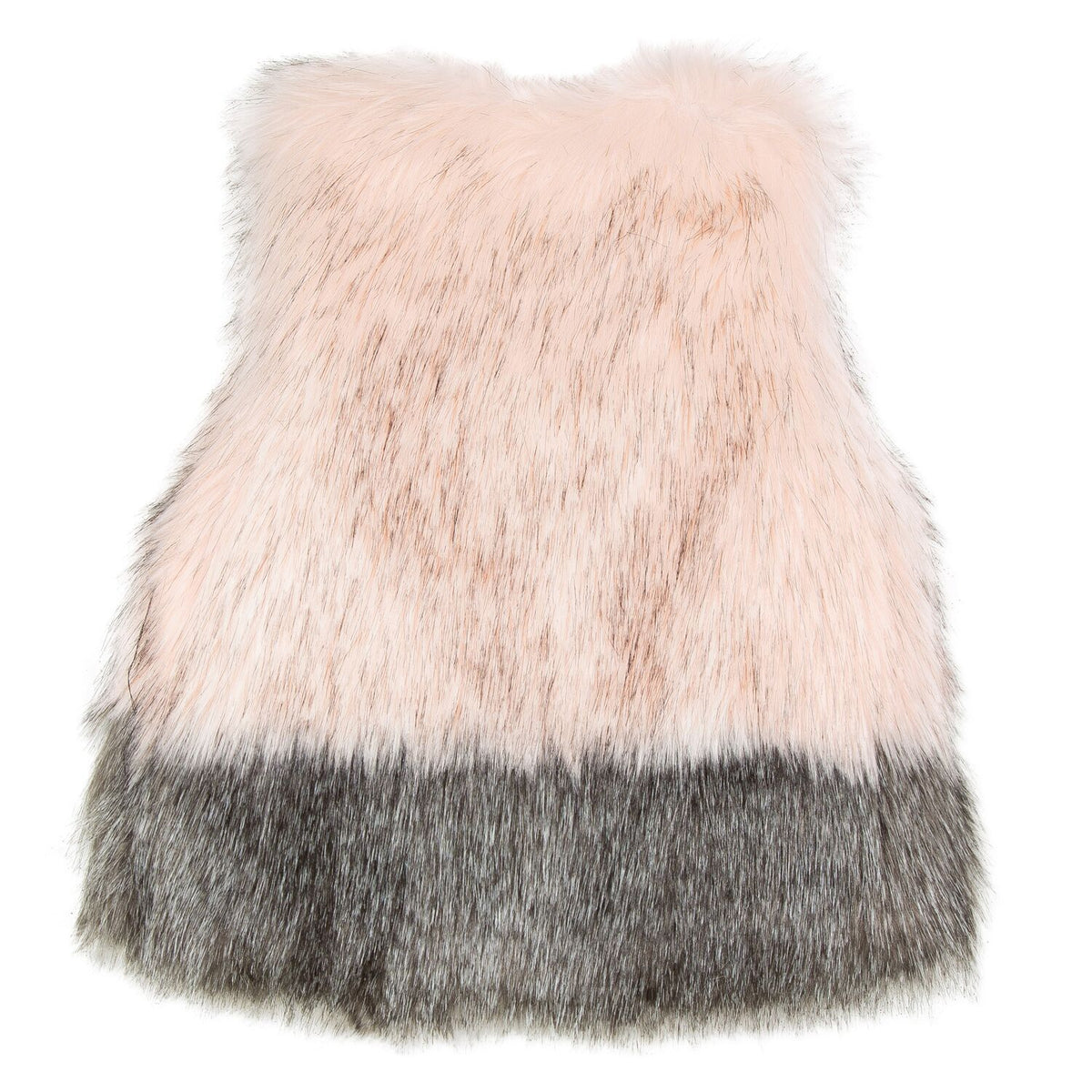 Girls Vintage Rose Faux Fur Vest