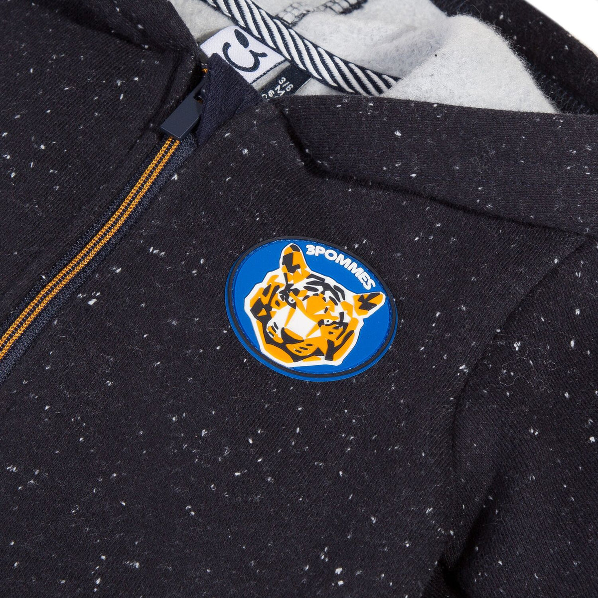 Boys Tiger Patch Zip Up Hoodie