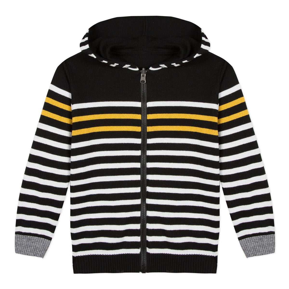 Boys Reversible Striped Hoodie