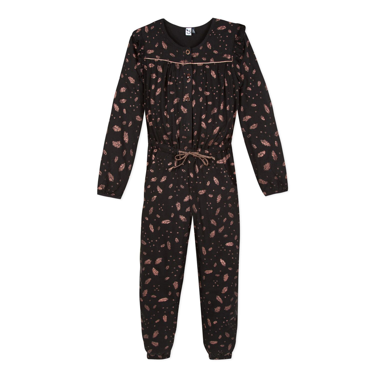 Girls Bronze Leaves Jumpsuit