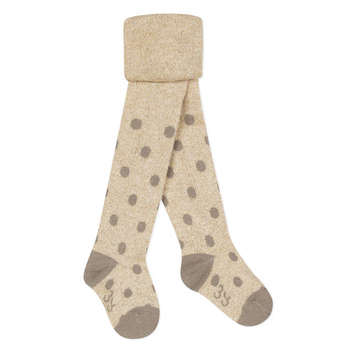 Girls Gold Polka Dot Tights
