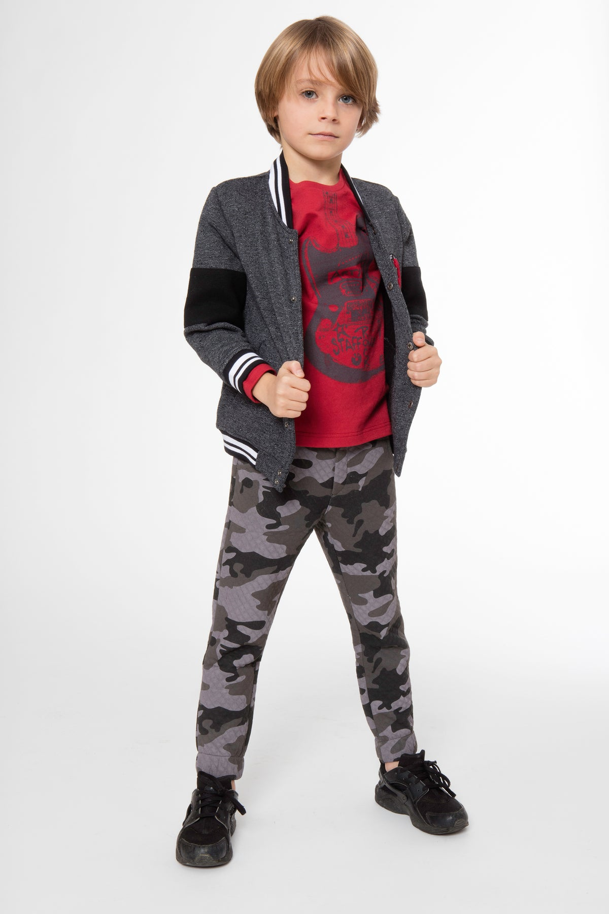 Boys Camouflage Joggers