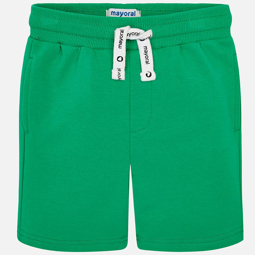 Basic Sporty Soft Green Fleece Short