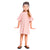 Girls Pink & White Striped Oversized Dress