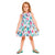 Girls Cactus Print Dress & Biker Leggings Set
