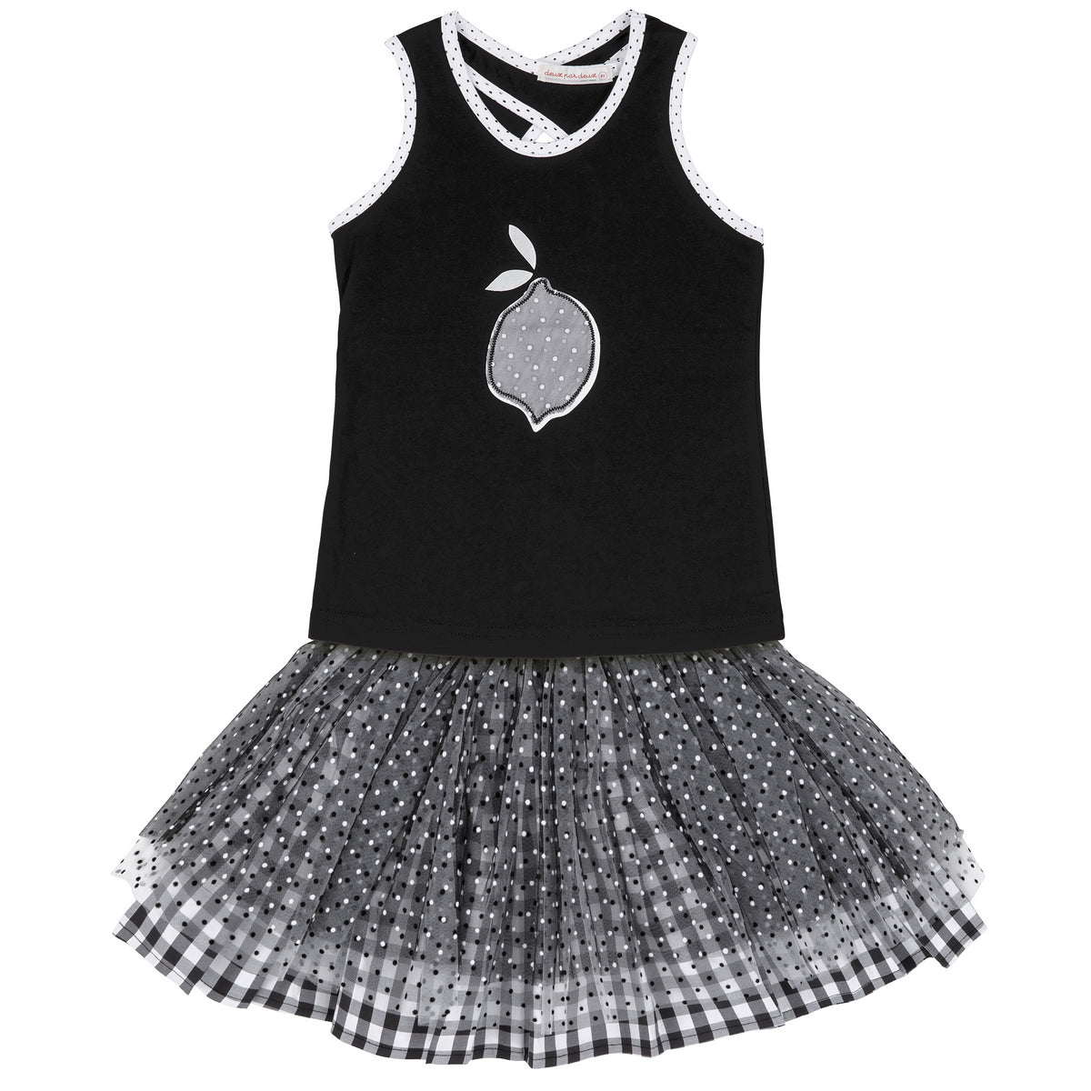 Girls Lemon Cami & Tulle Skirt Set