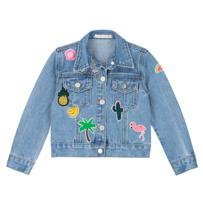 Girls Denim Jacket With Patches