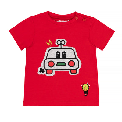 Boys T-Shirt With Car Print