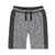 Boys Grey Mix French Terry Bermuda Shorts
