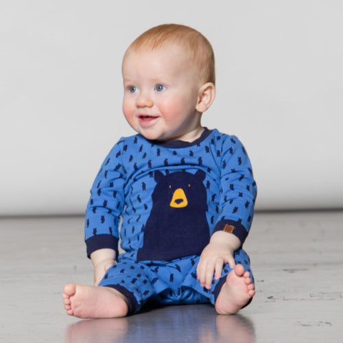 Baby Organic Cotton Bear Playsuit