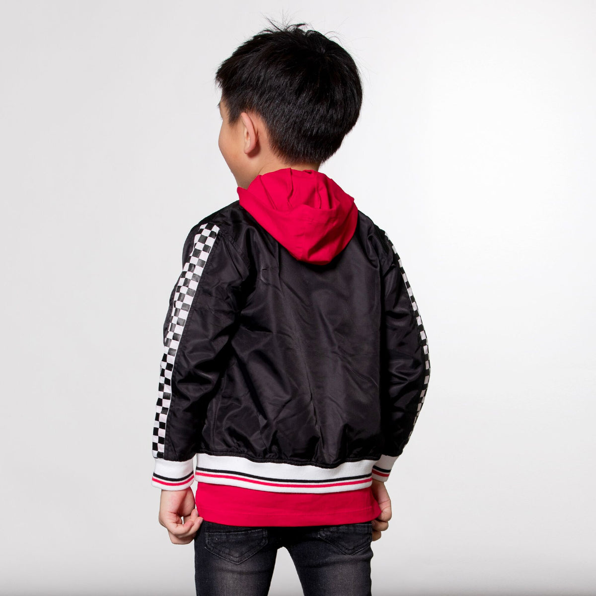 Boys Racing Bomber Jacket