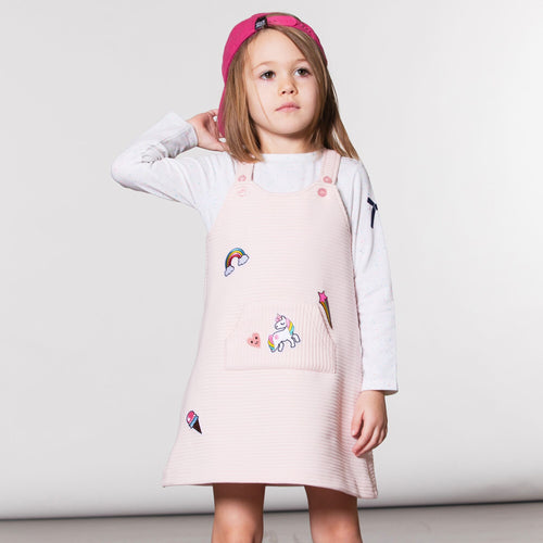 Girls Unicorn Top and Jumper Dress