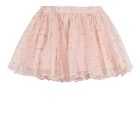 Girls Silver Foil Skirt