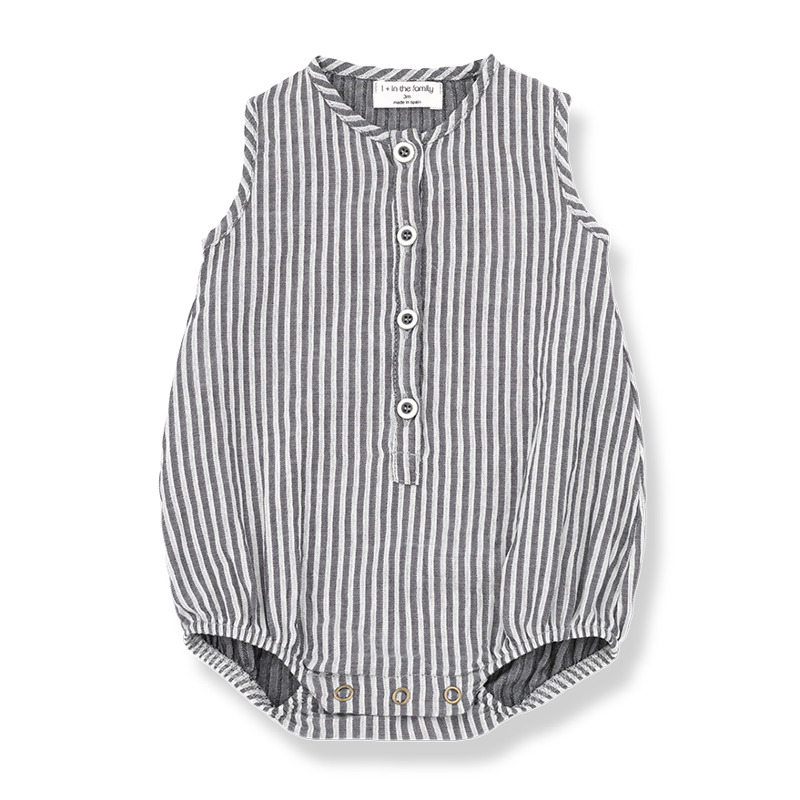 Baby Unisex Striped Romper