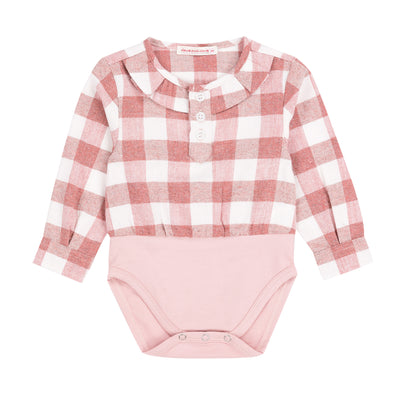 Baby Girls Pink Plaid Onesie
