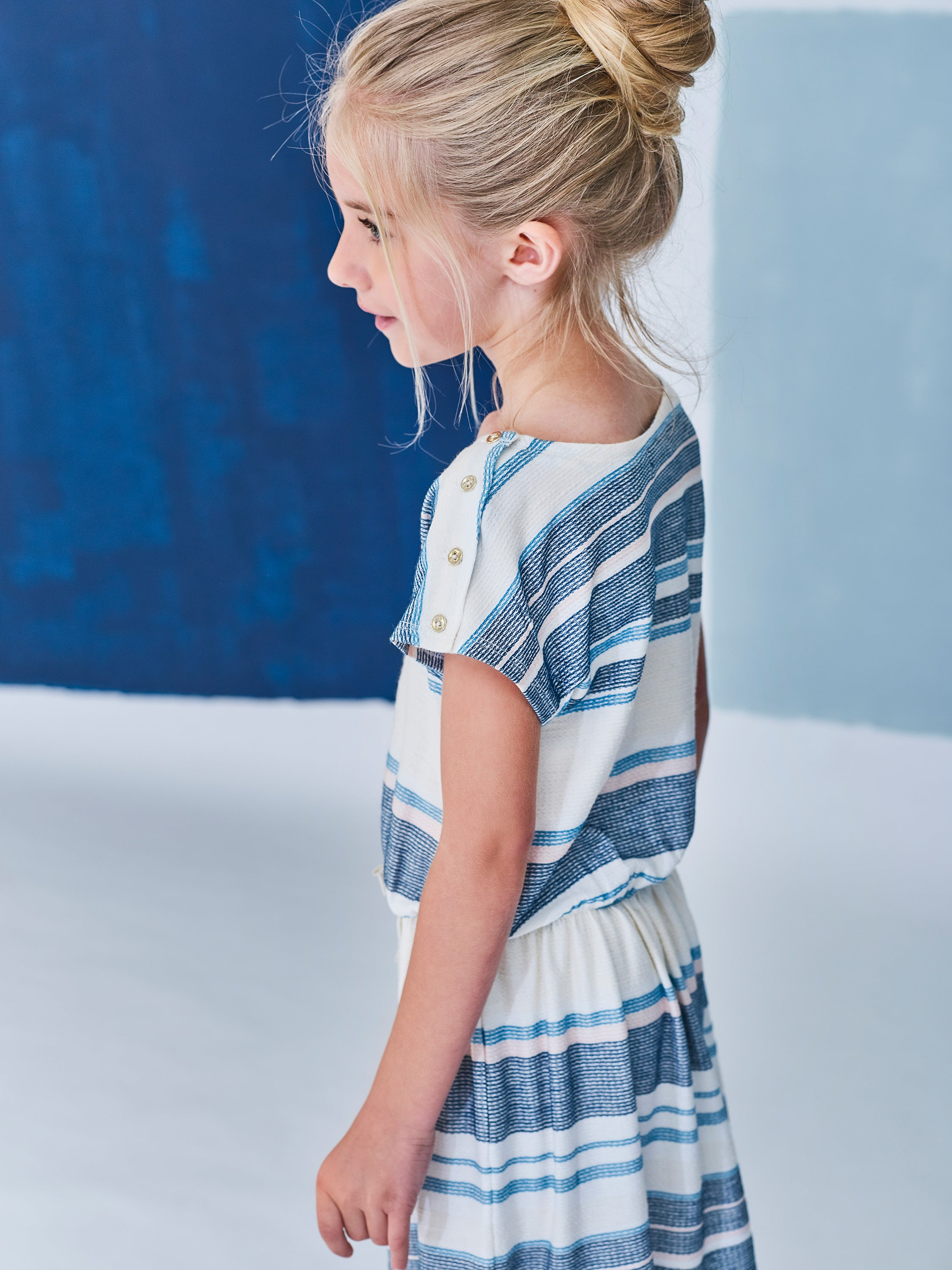 Girls Jade Striped Dress