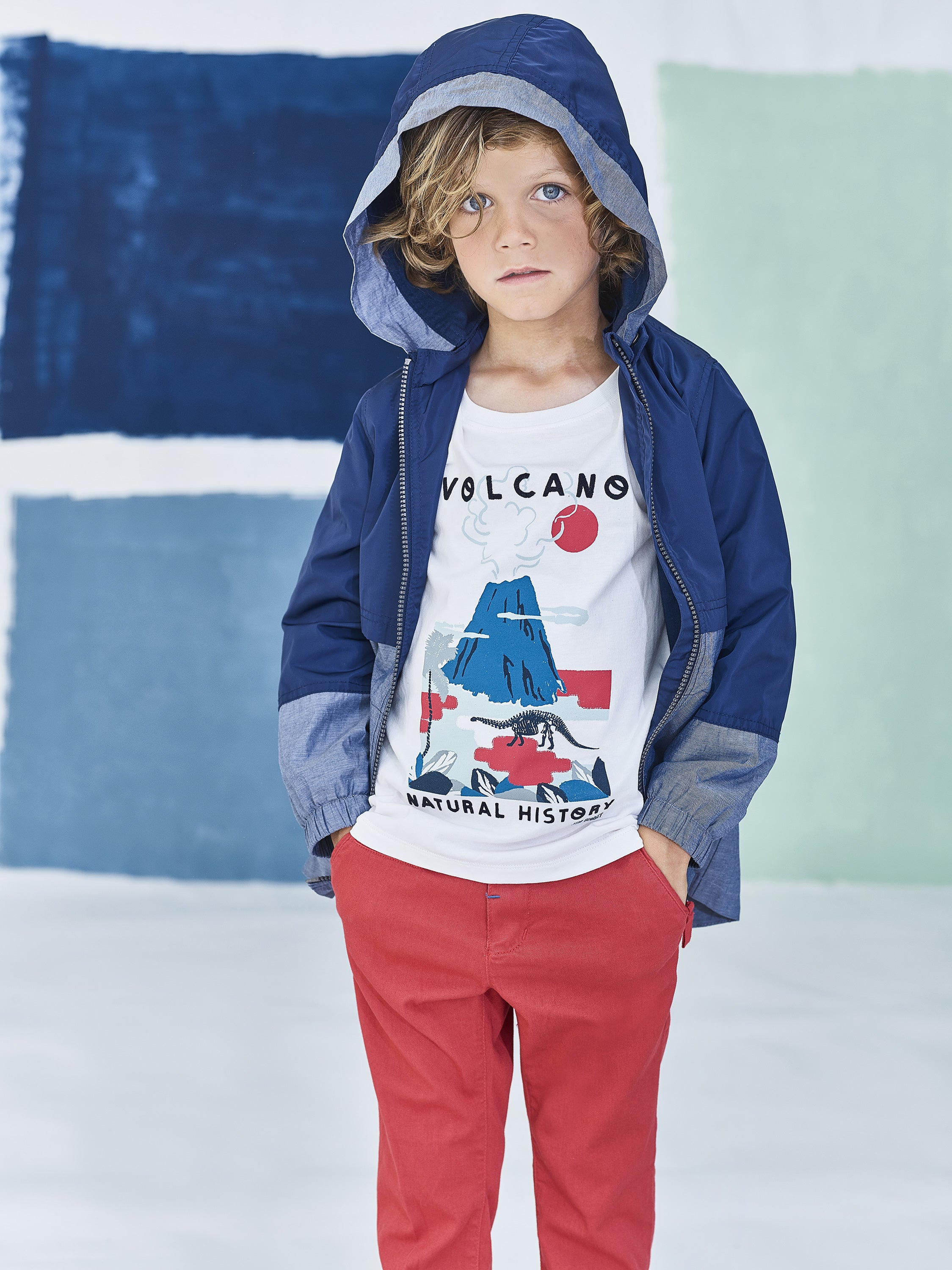Boys Printed Volcano T-Shirt